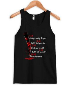 A Nightmare On Elm Street Hand 1 2 Freddy's Coming For You Tanktop ZNF08