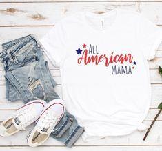 All American Mama Tshirt ZNF08