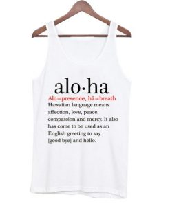 Aloha Definition Unisex Tank Top ZNF08