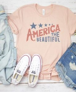 America The Beautiful Flag Tee ZNF08