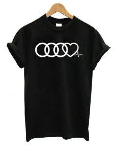 Audi Heart Beat T shirt ZNF08