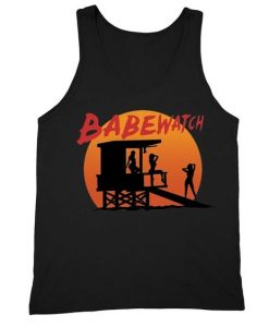 Babewatch Lifeguard Tower Novelty Gag Tank-Top ZNF08