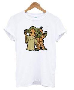 Baby Yoda And Baby Groot T shirt ZNF08