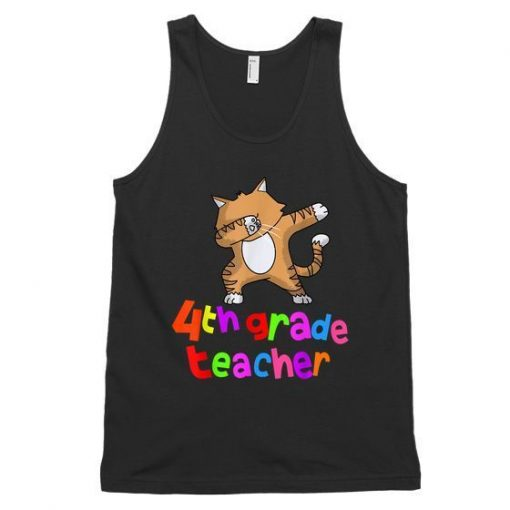 Back To School 4Th Grade Teacher Dabbing Cat Dab Unisex Tank Top ZNF08