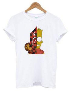 Bart-Simpson-Shark-Bape-T-shirt ZNF08
