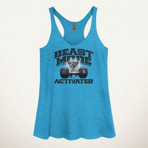 Beast Mode Activated Kitten Women's Tank Top ZNF08