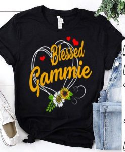 Beautiful Blessed Gammie Grandma Thanksgiving Christmas Mother's Day shirt ZNF08