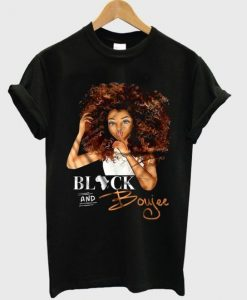 Black And Boujee African Girl T shirt ZNF08