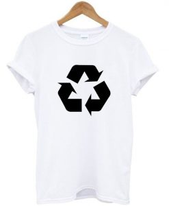 Black Recycling Symbol T Shirt ZNF08