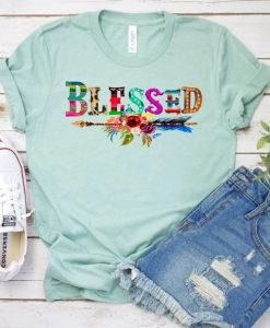 Blessed Serape and Leopard Tee ZNF08