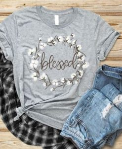 Blessed white flower T-Shirt ZNF08