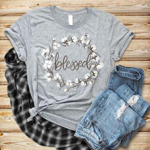 Blessed white flower T-Shirt ZNF08