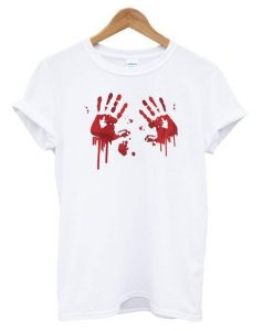 Bloody Hands T shirt ZNF08