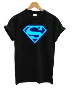 Blue Fluorescent Anime Superman T shirt ZNF08