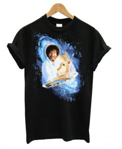 Bob Ross Galaxy Painting Graphic T shirt ZNF08