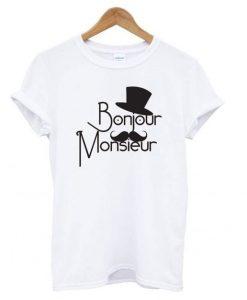 Bonjour Monsieur' T-shirt ZNF08
