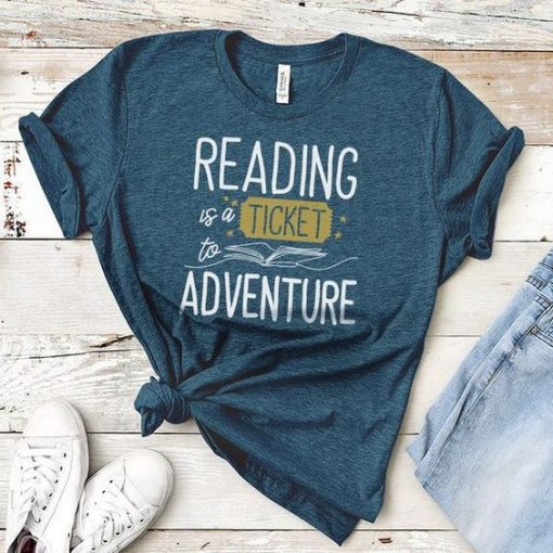 Book Reading T-shirt ZNF08