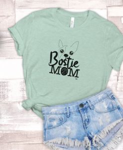 Bostie Mom Unisex Adult T-Shirt ZNF08