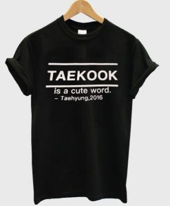 Bts Taekook Is a Cute Word T-Shirt ZNF08