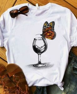 Butterfly On The Glass T Shirt ZNF08
