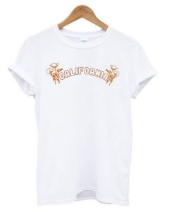 California Poppy White t shirt ZNF08