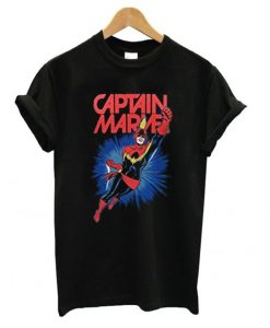 Captain Marvel Action T shirt ZNF08