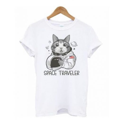 Cat Astronaut Space Traveler t shirt ZNF08