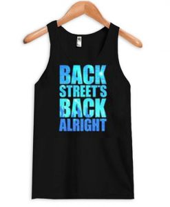 back streets back alright tank top ZNF08
