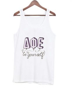 be yourself AQE tank top ZNF08