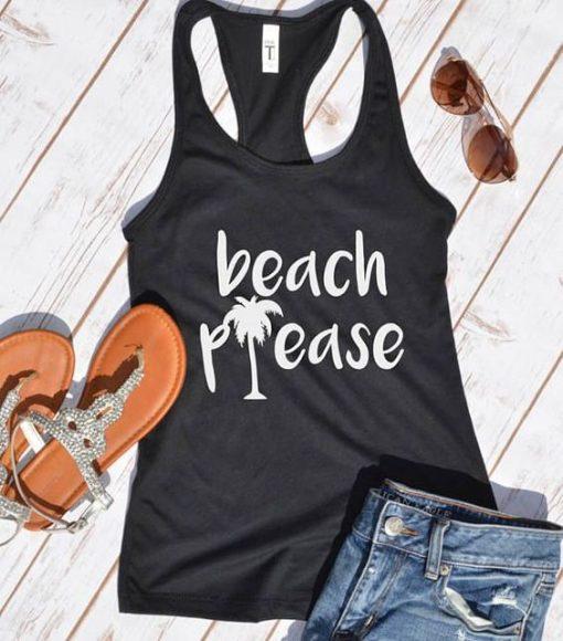 beach please tank top ZNF08