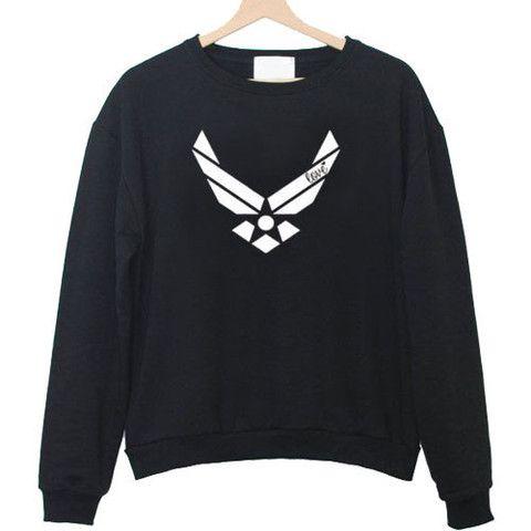 Air force racerback front sweatshirt ZNF08