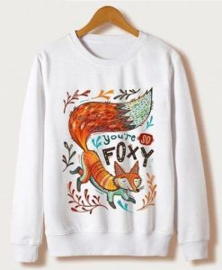 Animal Fox Print Sweatshirt ZNF08