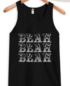 Blah Blah Blah BlackTank Top ZNF08