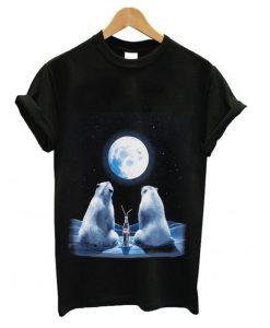 Coca-Cola Full Moon Polar Bears T shirt ZNF08