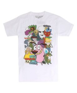 Courage The Cowardly Dog Characters T-Shirt ZNF08