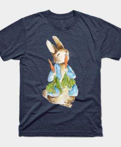 Cute Peter Rabbit eating carrot T-Shirt ZNF08