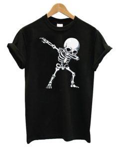 Dabbing Skeleton Halloween T shirt ZNF08