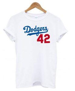 Dodgers 42 T shirt ZNF08