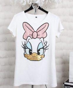 Donald Duck Print T shirt ZNF08