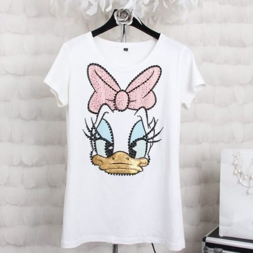 Donald Duck Print T shirt ZNF08