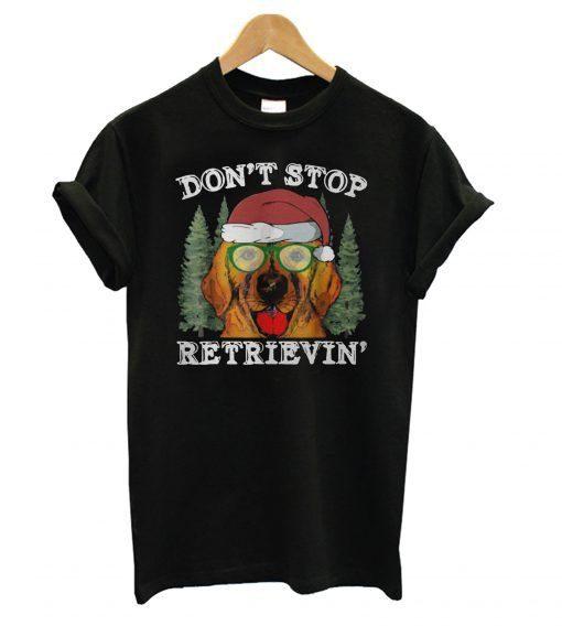 Dont-stop-golden-retriever-Christmas-T-shirt ZNF08