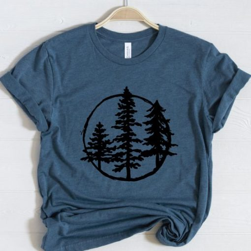 Evergreen Trees Graphic T-Shirt ZNF08