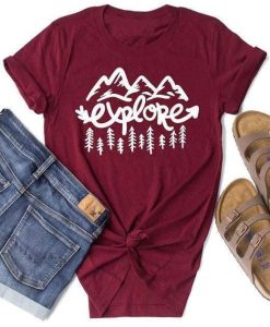 Explore Mountain T Shirt znf08