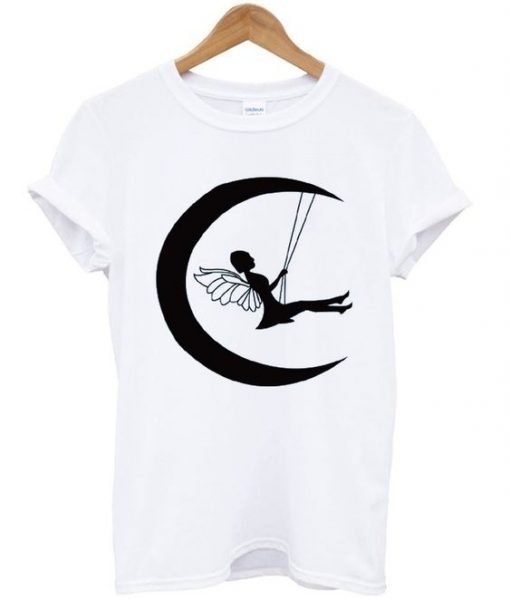 Fairy on moon T-shirt ZNF08