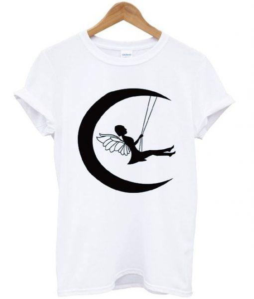 Fairy on moon T-shirt ZNF08