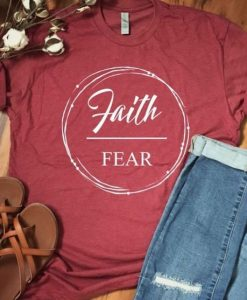 Faith Fear T-shirt ZNF08