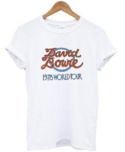 david bowie 1978 world tour t-shirt ZNF08