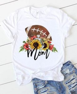 Football Mom Sunflower T Shirt ZNF08