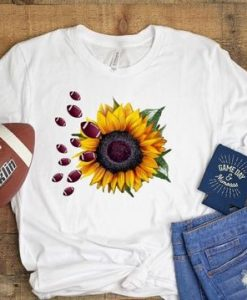 Football Sunflower T Shirt ZNF08