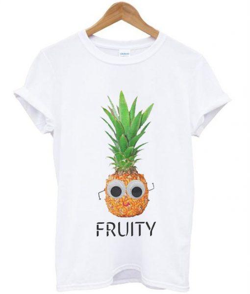 Fruity Pineapple Unisex Slogan T-Shirt ZNF08